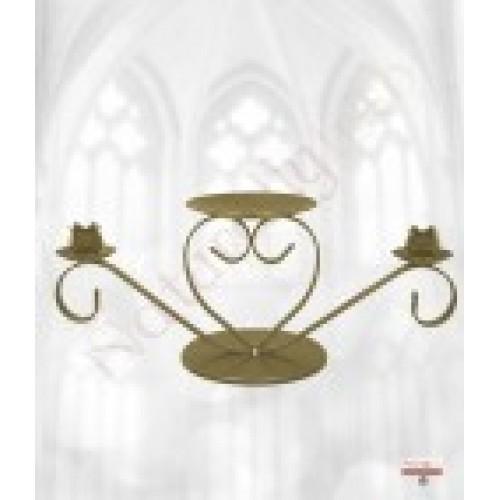 Gold unity candle holder