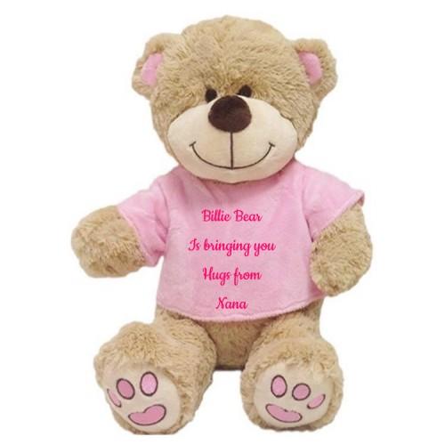 Billie Bear Hugs pink only