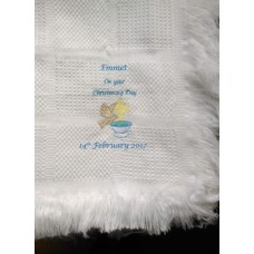 Dove Christening Blanket