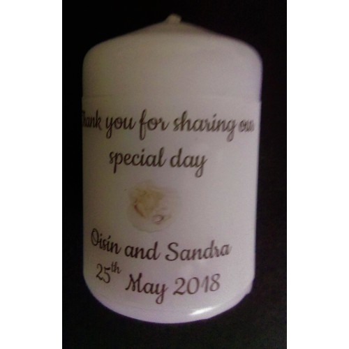 Shell favor candle