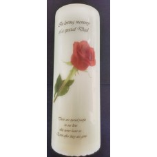 Rose memory candle