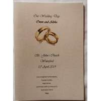 Gold wedding rings booklet cover