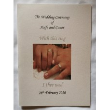 With this ring I thee Wed Booklet Cover
