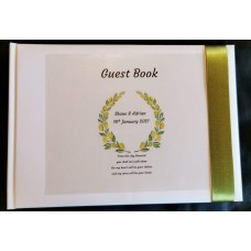 Olive branch wreath guest book