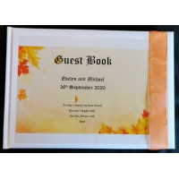 Autumn leaves guest book