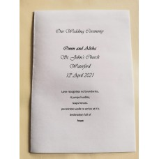 White and silver organza  booklet cover