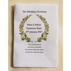 Olive branch wreath booklet cover