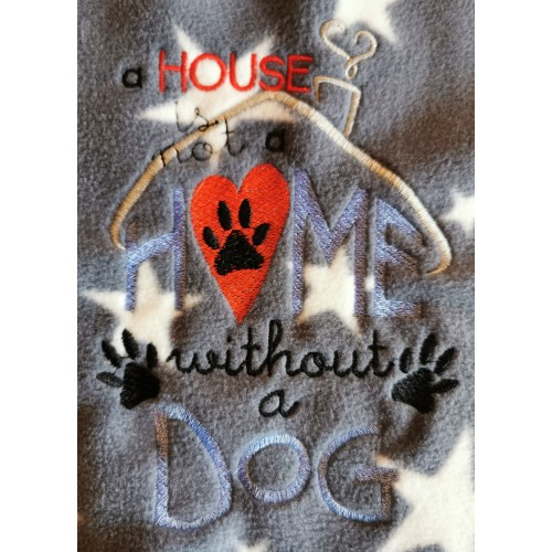 A house is not a home Dog blanket