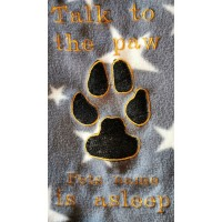Dog Talk to the paw blanket