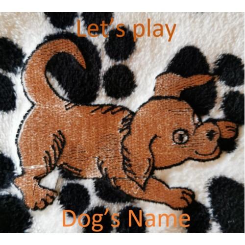 Let's play dog blanket