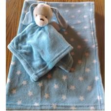 Blanket and comforter set blue