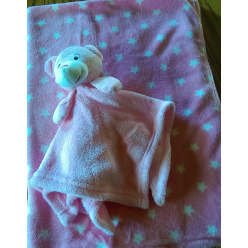 Blanket and comforter set pink REDUCED ONLY 2 LEFT
