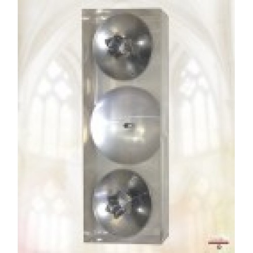 Boxed wedding candle stands in silver