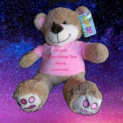 Christening/Naming Day Bear Pink only