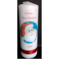 Baby's First Christmas Santa Candle