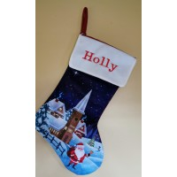 Christmas scene stocking