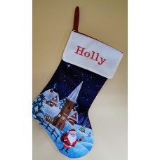 Christmas scene stocking
