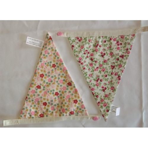Floral bunting blanks