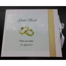 Gold Wedding Rings Guest Book